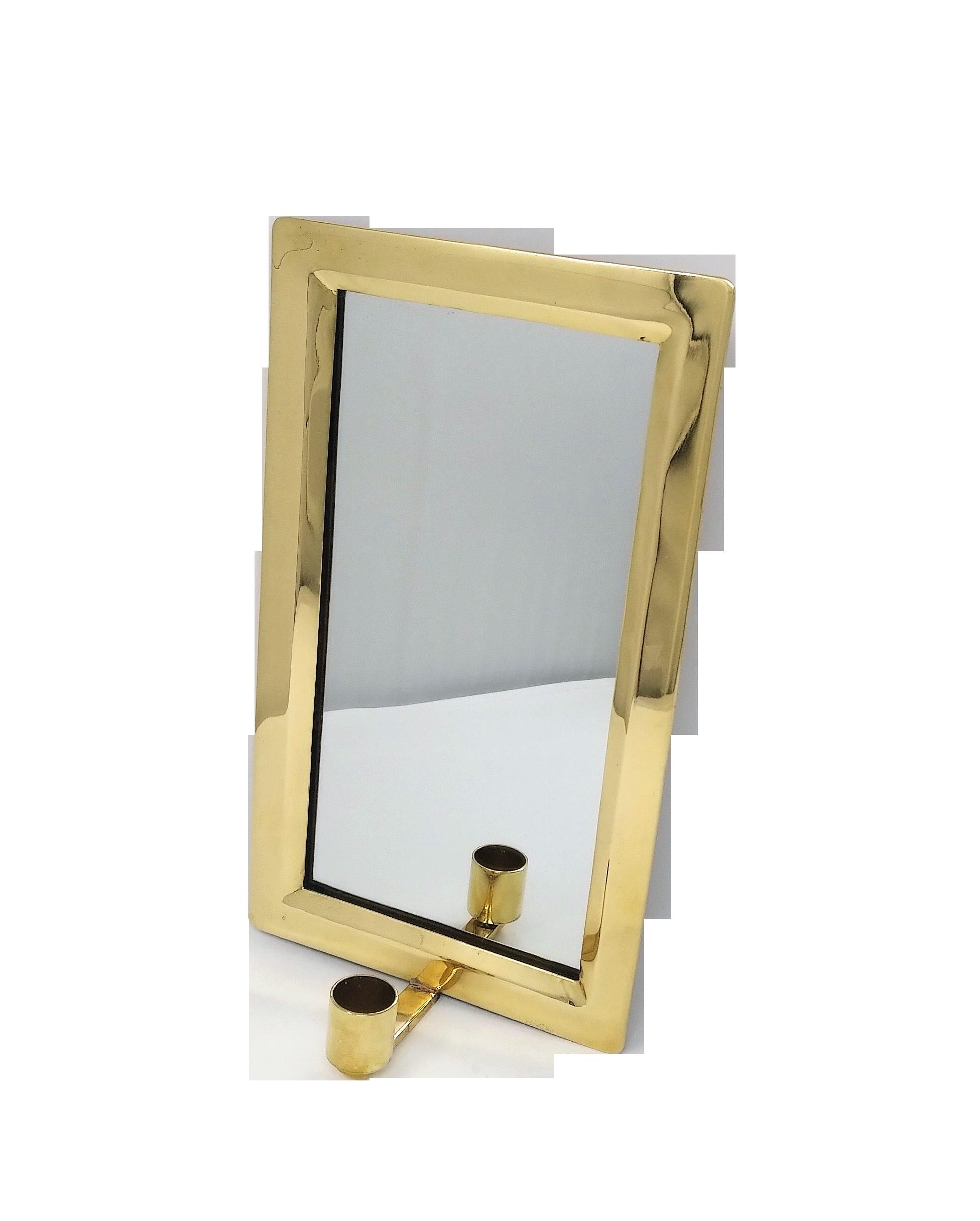 Mässing - Spegellampett 18*30 cm Image