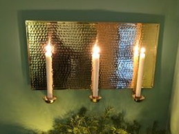 Mässing - Lampett Rektangulär 3 ljus Image