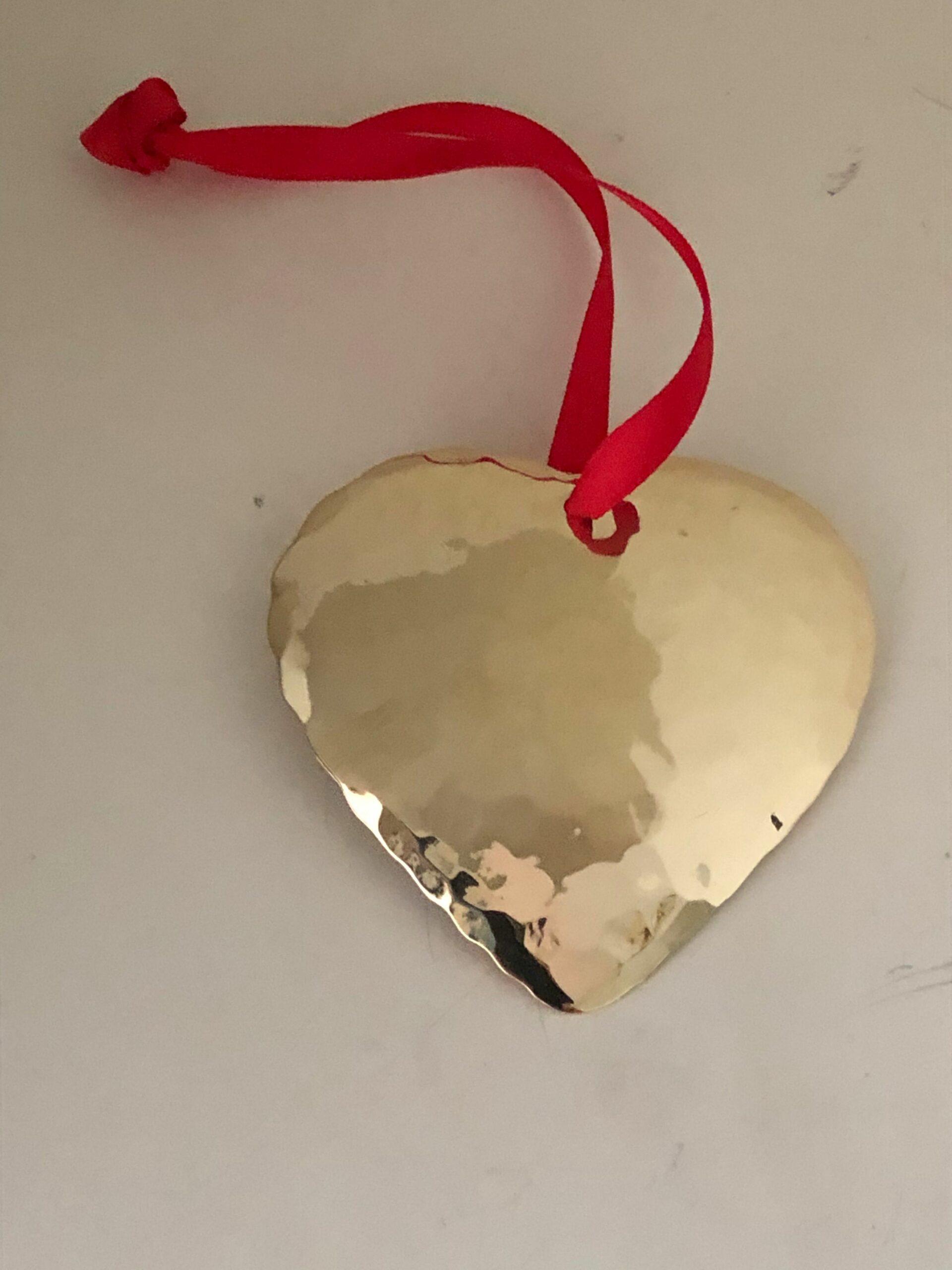 Mässing - Hjärta 10 x 8 cm *SLUTSÅLD* Image