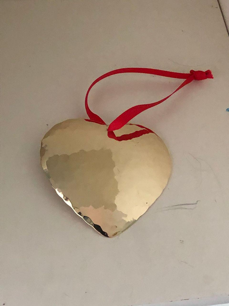 Mässing - Hjärta 8 x 7 cm *SLUTSÅLD* Image