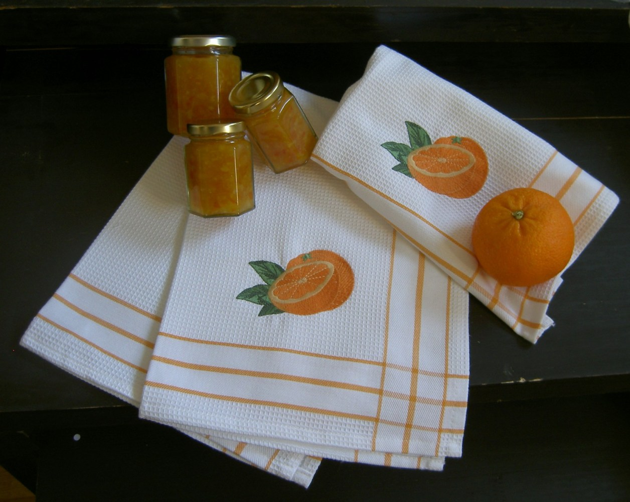 Handuk - Våfflad - Apelsiner 50x70 Image