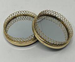 Mässing - Coaster / Spegel Image