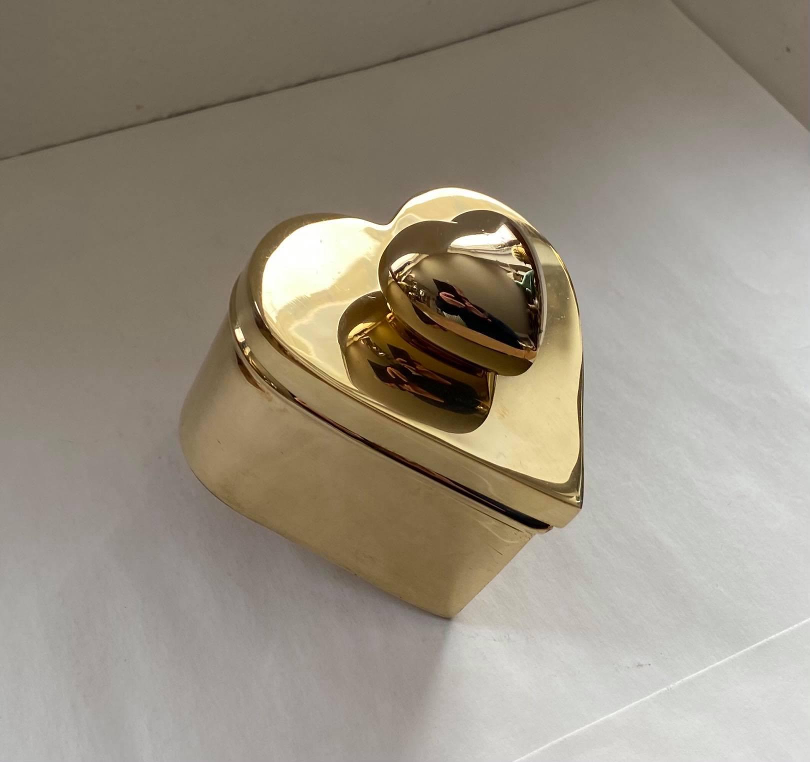 Mässing - Hjärtbox med Miniheart liten Image