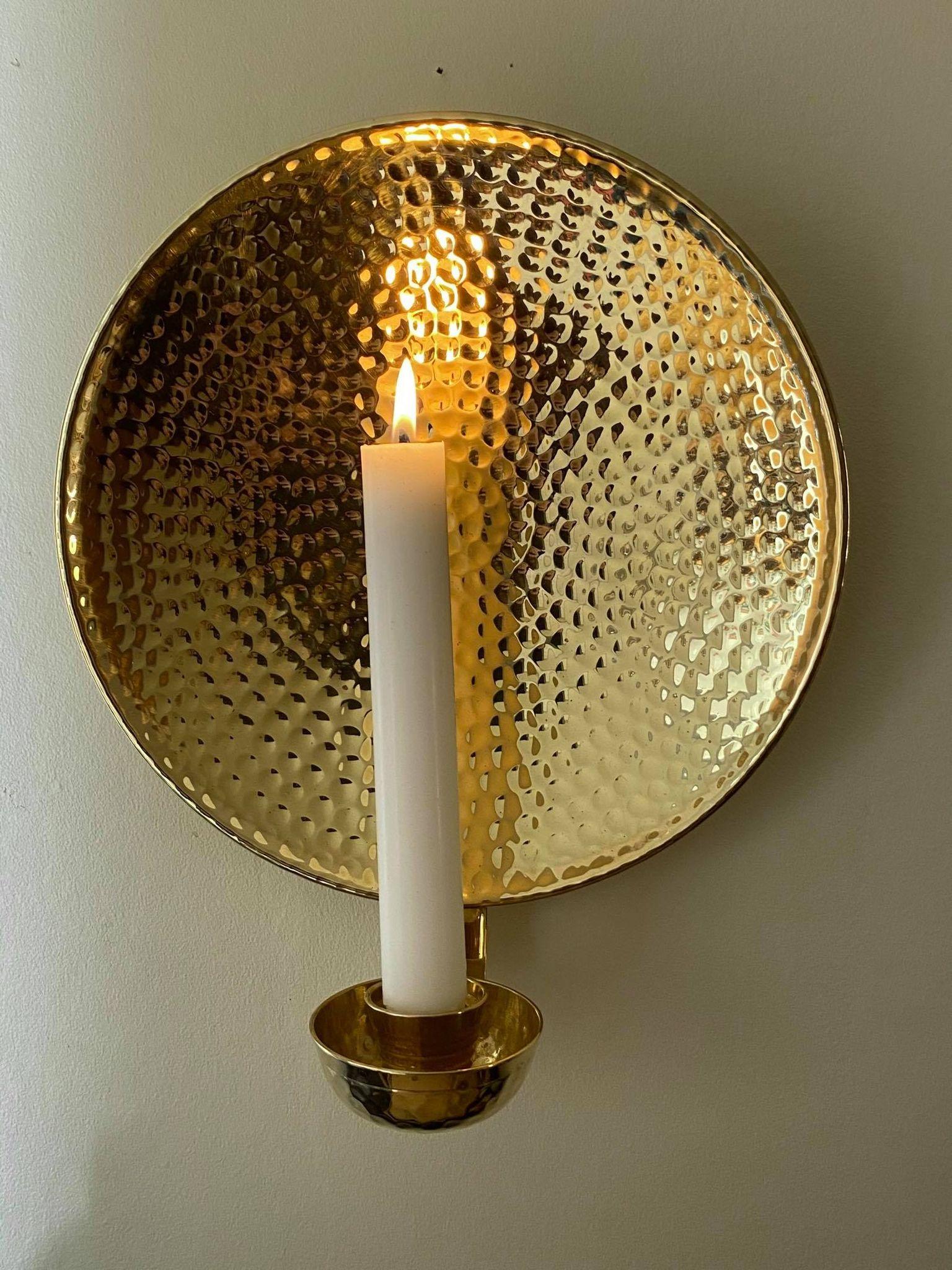 Mässing - Lampett Rund 23 cm Image